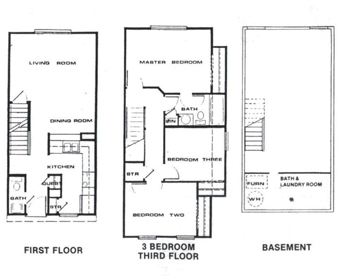 Upstairs Floor Plans | Carbondale Meadow Ridge 4 Bedroom Floor Plan